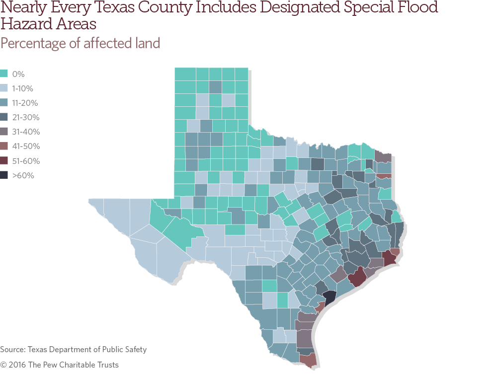 Texas Flood Map 2016 Texas Flood risk and mitigation   The Pew Charitable Trusts