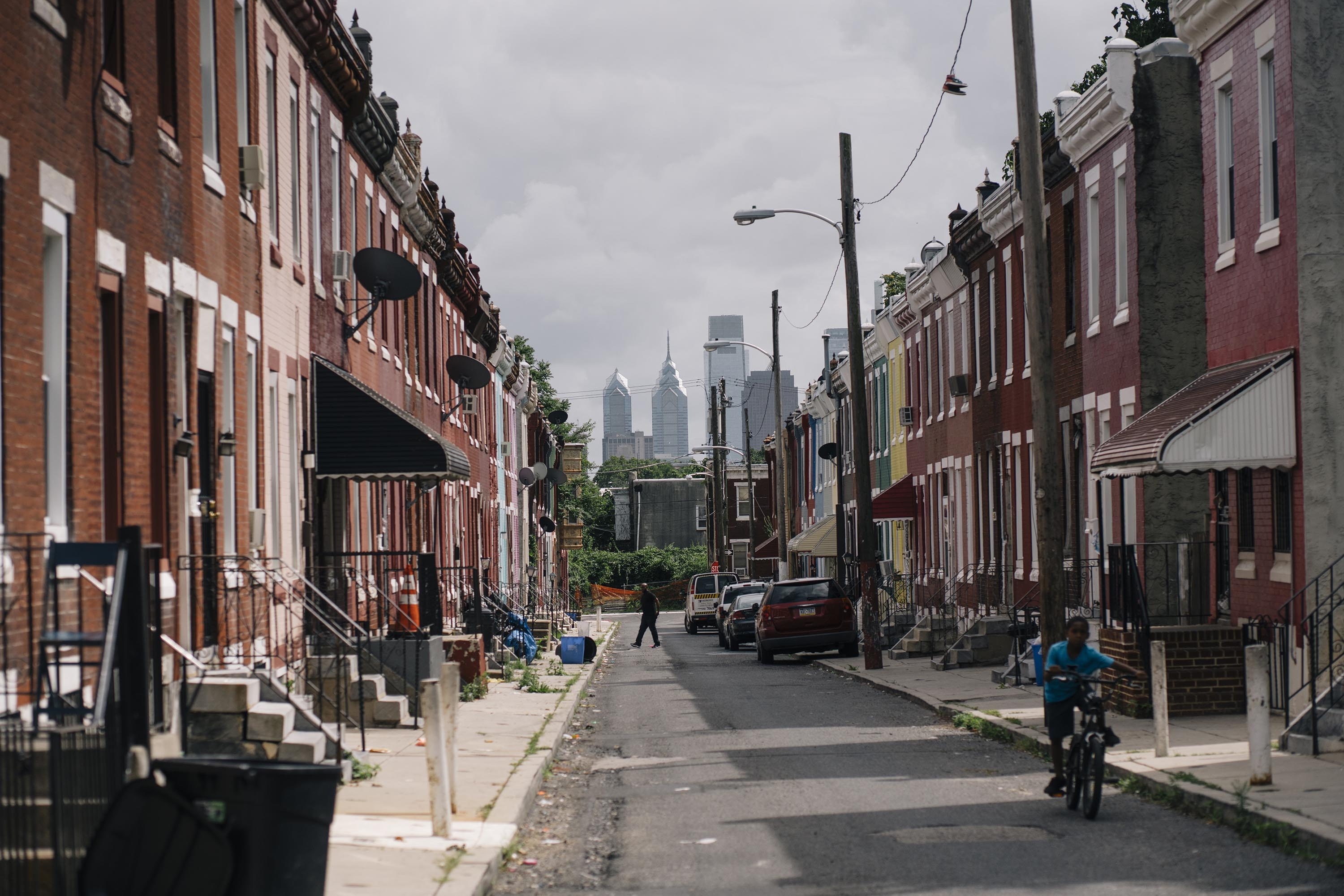 Image result for walking down city North Philly street