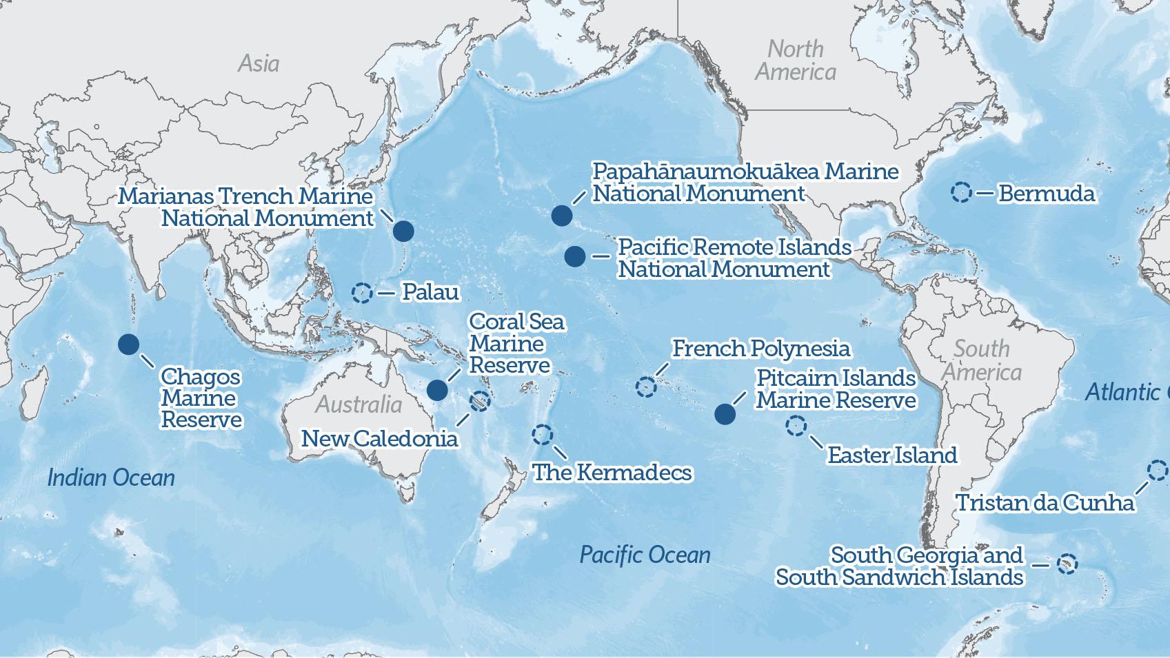 global ocean legacy map the pew charitable trusts