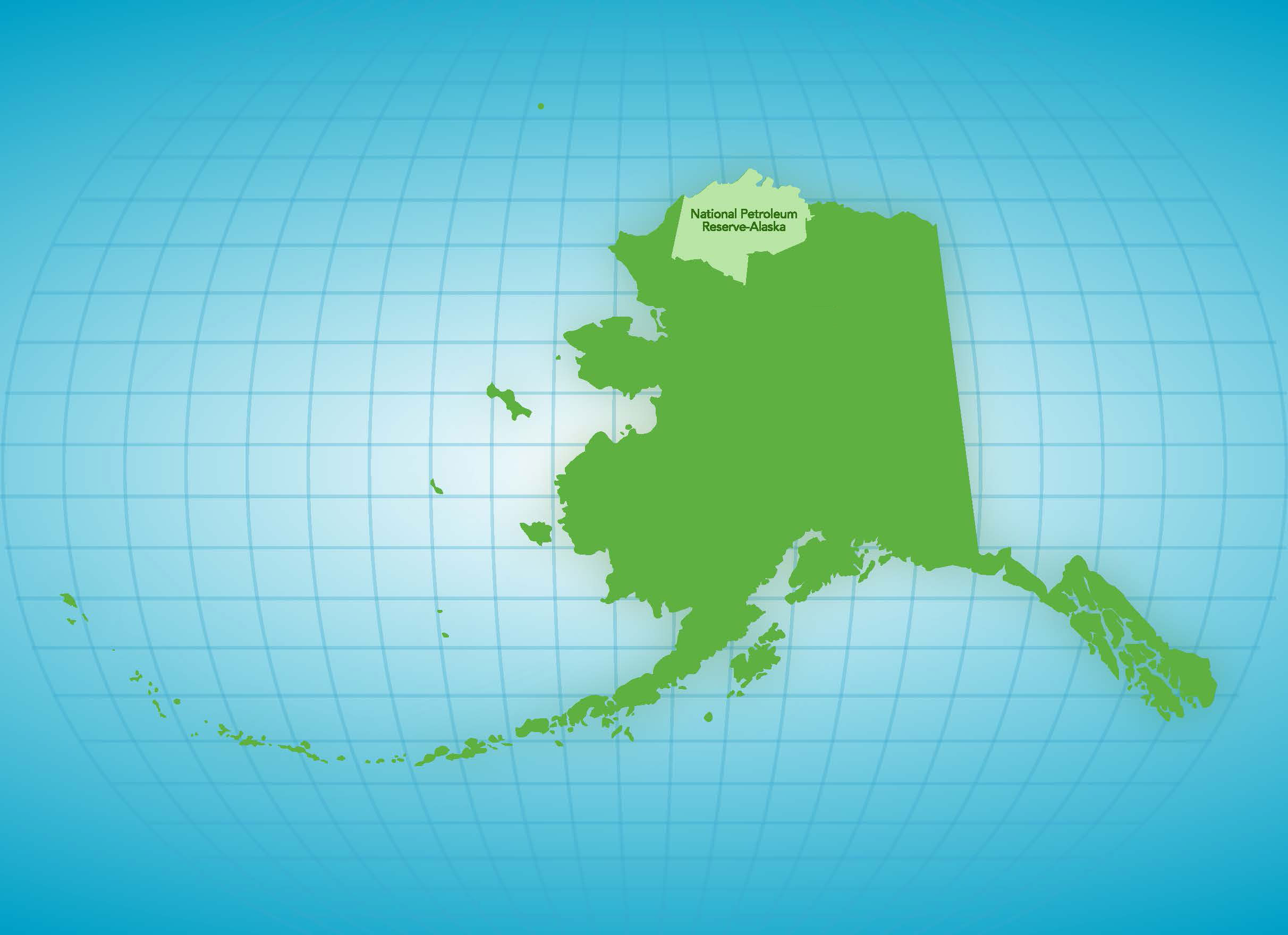 Map of Alaska with NPR-A highlight
