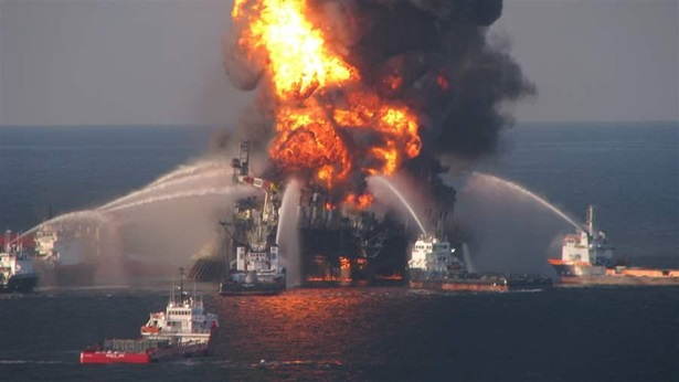 Deepwater Horizon Fire Oceans North
