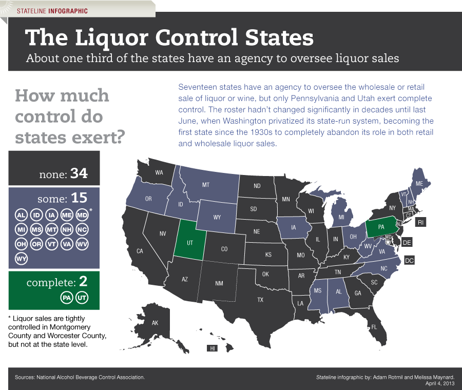 Virginia State Sales Tax >> Should States Get Out of the Booze Business? | The Pew ...