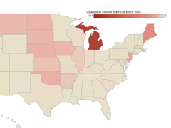 Interactive: The Ever-Shrinking Number of School Districts
