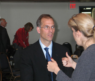 Chief Eoncomist for Moody's Economy.com Mark Zandi predicted the economy would start showing signs of improvement by this summer, with housing prices rising again before the end of next year.