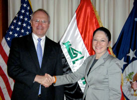 After the election, Illinois state Rep. Susana Mendoza (pictured) and other members of the delegation from the National Foundation of Women Legislators met with the Christopher Hill, the U.S. ambassador to Iraq.