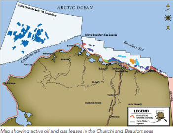 Map: Oil and Gas in the U.S. Arctic