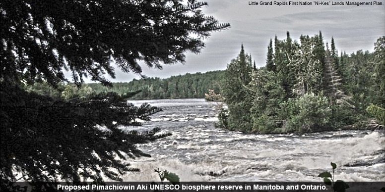 Proposed Pimachiowin Aki UNESCO biosphere reserve in Manitoba and Ontario.