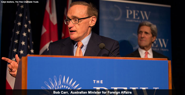 Bob Carr, Australian Minister for Foreign Affairs