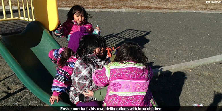 Foster conducts his own deliberations with Innu children