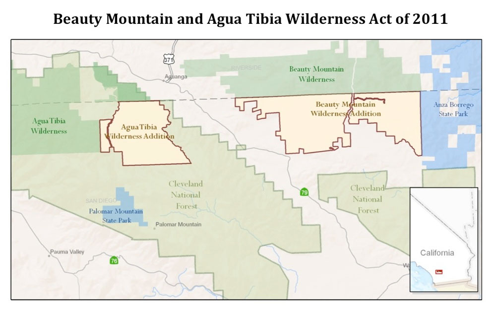 Beauty Mountain and Agua Tibia Wilderness Act