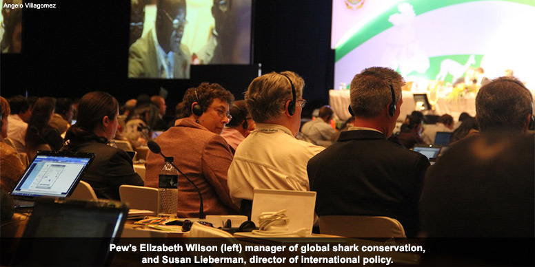 Pew representatives at CITES