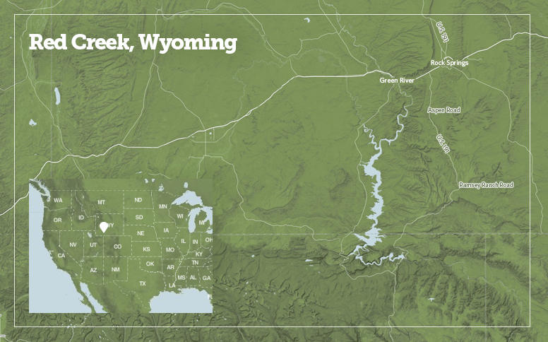 Badlands Wyoming Map.Red Creek Badlands Secluded Wyoming Splendor The Pew Charitable