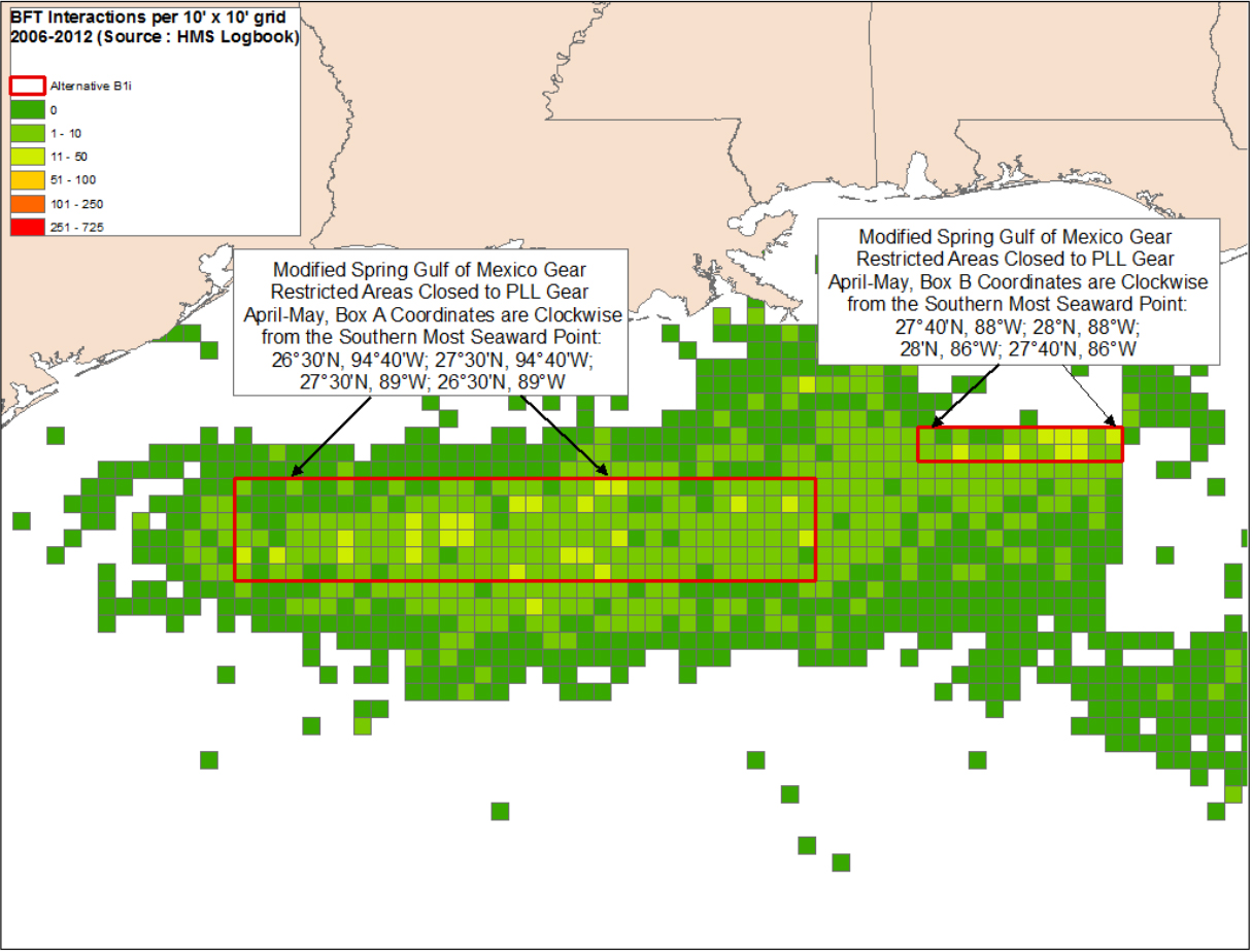 Modified Spring Gulf of Mexico Gear Restricted Areas