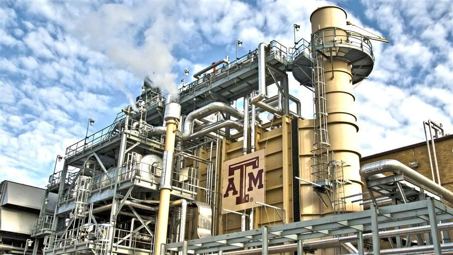 Combined heat and power system at Texas A&M University.