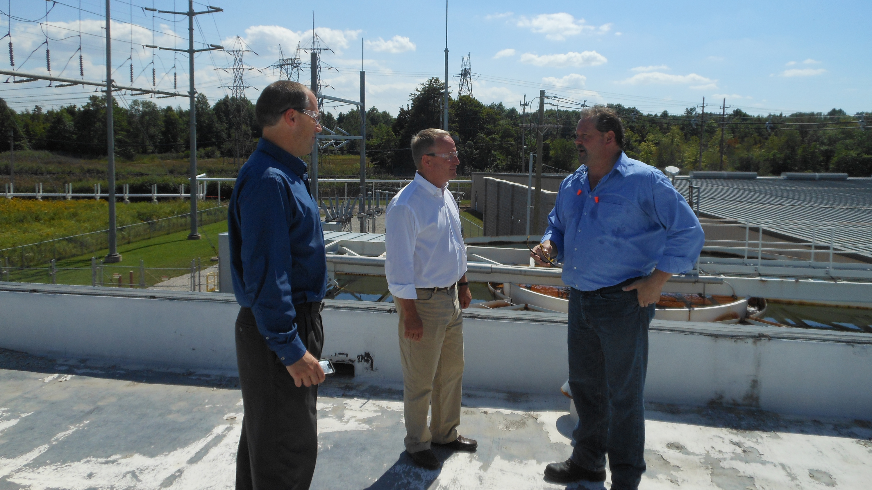 Rep. David Joyce of Ohio (R, 14th District), co-sponsor of the POWER Act, tours a combined heat and power project built by DTE Energy Servies for Cristal's checmial plant in Ashtabula, Ohio (Sep. 4, 2014).