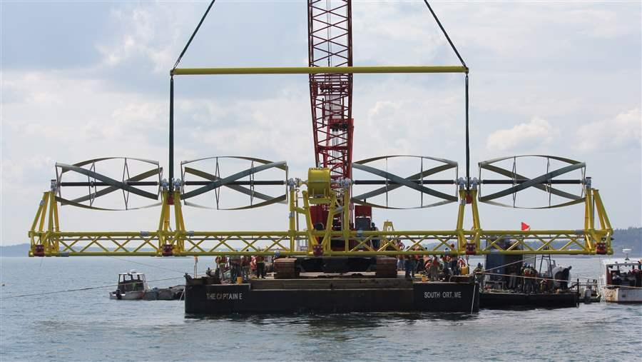 Ocean Renewable Power Company's Cobscook Bay tidal energy project is first of its kind in the nation.