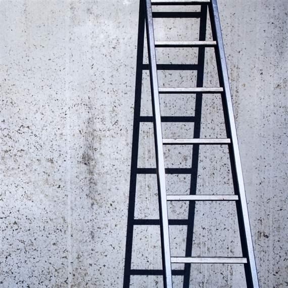 Ladder against Wall