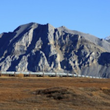 Photo of Alaska slope and pipeline