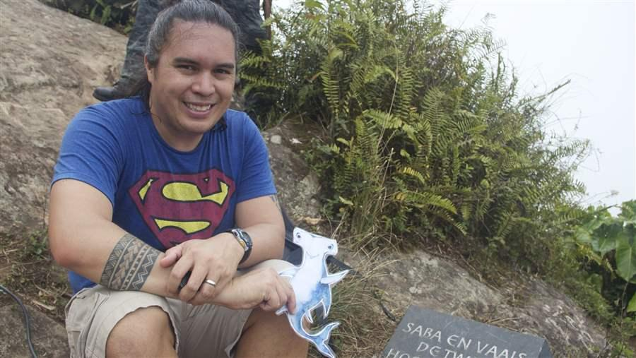 Pew's Angelo Villagomez and Shark Stanley take a visit to Saba, an island in the Dutch Caribbean