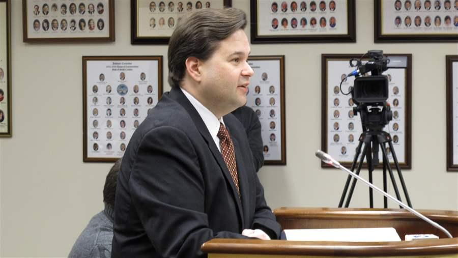 Former South Carolina Department of Revenue computer security chief Scott Shealy appears before legislators investigating how hackers accessed tax information. Shealy left the agency before the hacking and said his bosses didn't take seriously his concerns about keeping data secure. States face cybersecurity threats and have trouble recruiting staff to combat it. (AP)