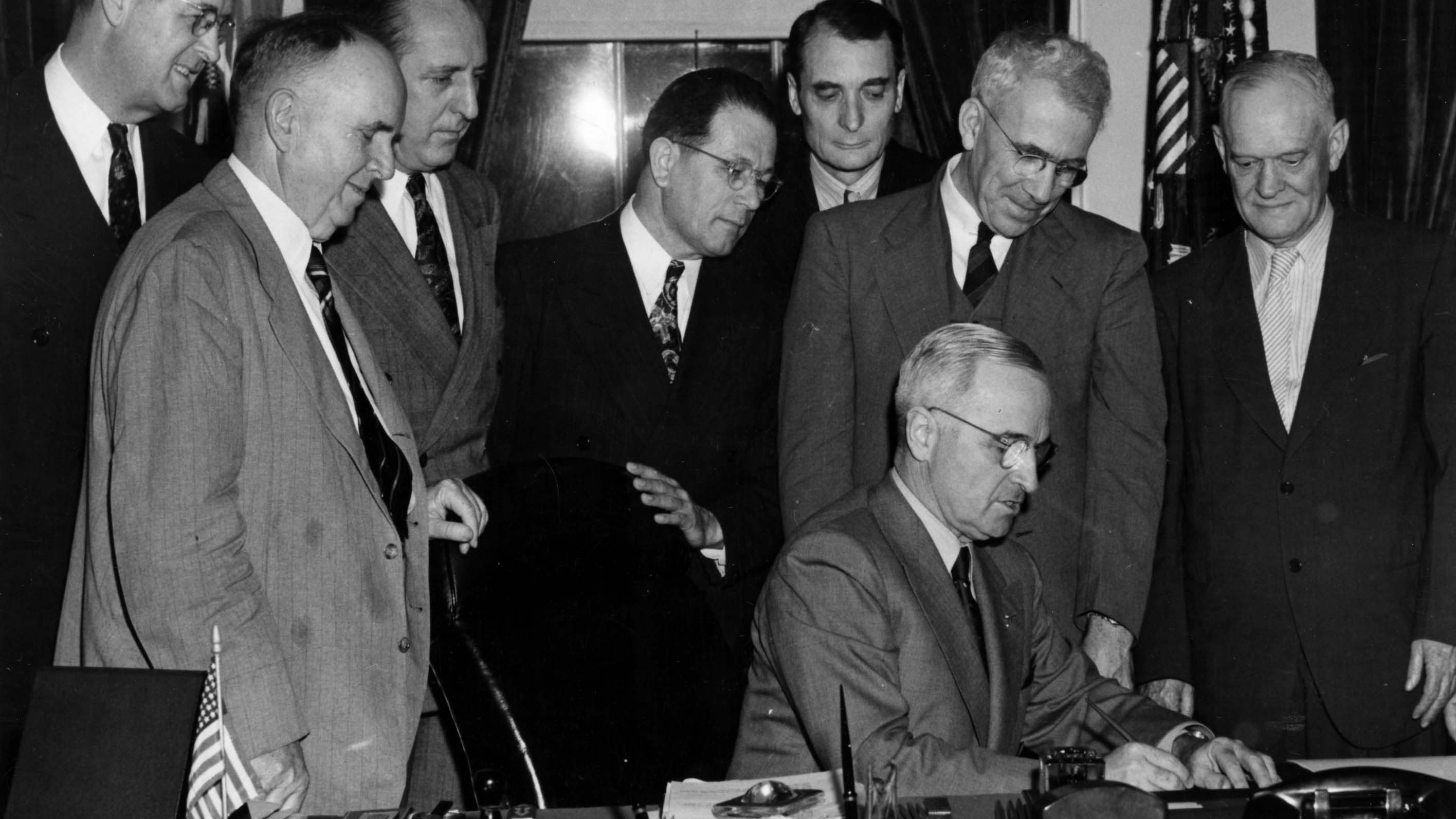Truman Signs School Lunch Act