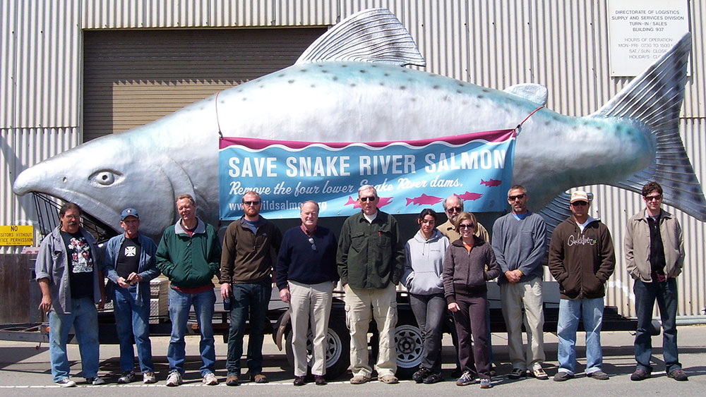 Zeke Grader and the staff and board members of the Pacific Coast Federation of Fishermen's Associations stand in solidarity with fishermen campaigning for dam decommissioning and salmon habitat restoration in the Columbia River basin.