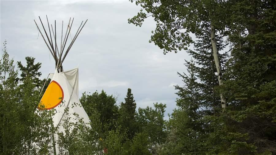 Tipi in Boreal forest
