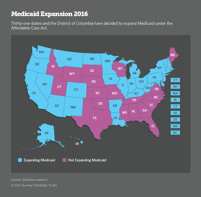 on medicaid expansion map