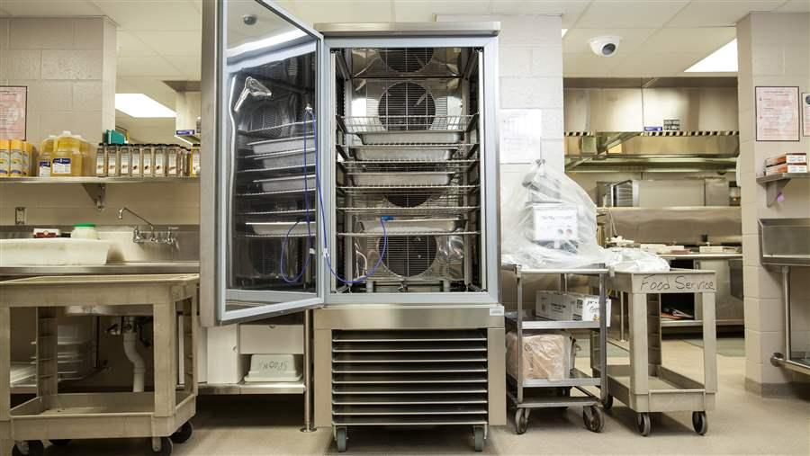 Many schools lack simple kitchen equipment to prepare fresh food.