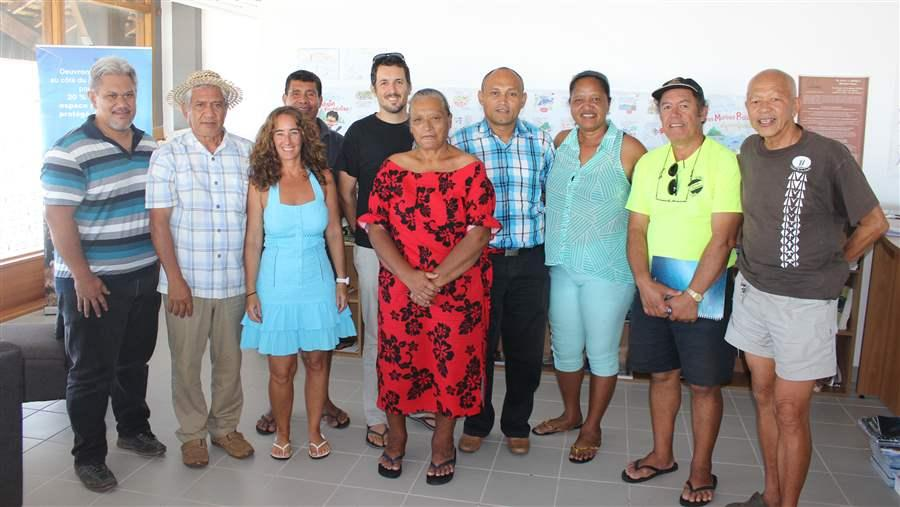 Elected representatives from the Austral Islands of Rimatara, Raivavae, Rapa, and Tubuai met to discuss the proposed marine reserve.