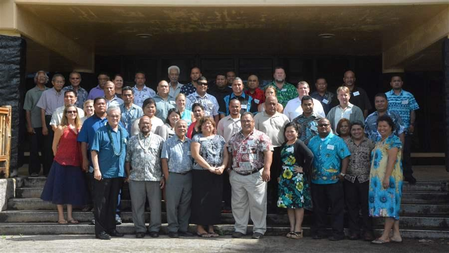 Attendees of the Micronesia Regional Shark Sanctuary enforcement workshop
