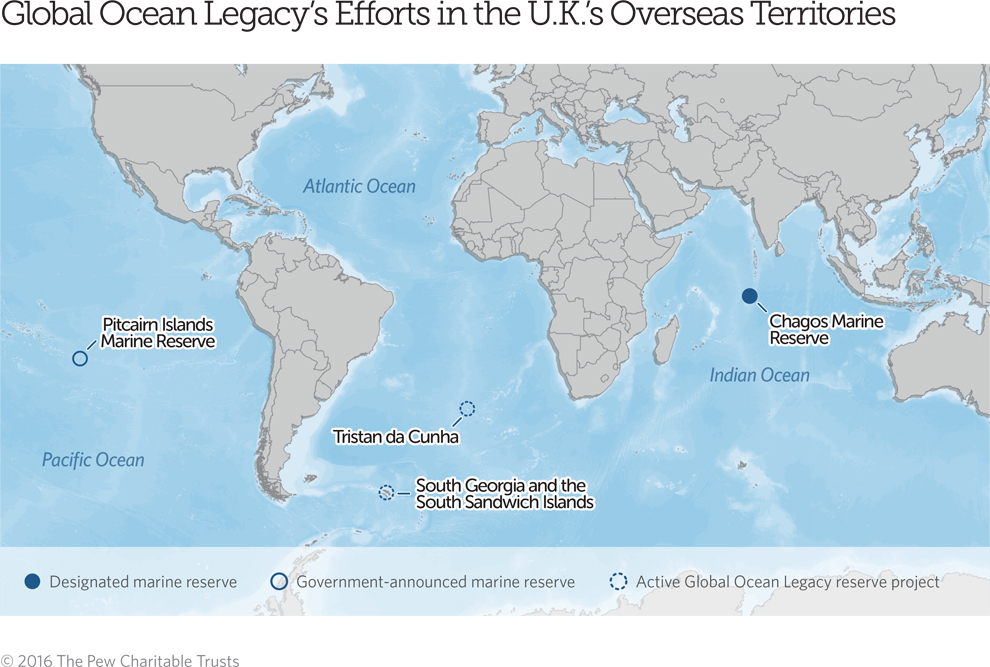 Map Of Uk Overseas Territories.A Vision To Create A British Ocean Legacy The Pew Charitable Trusts