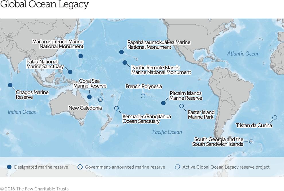 Global Ocean Legacy Map | The Pew Charitable Trusts