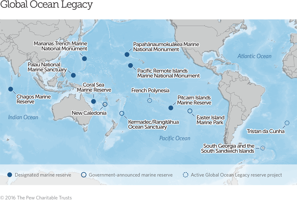 Global Ocean Legacy Map The Pew Charitable Trusts