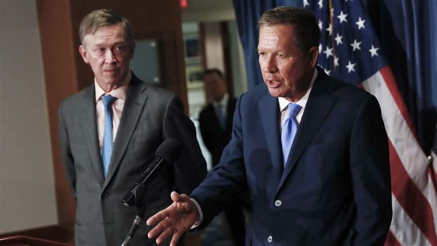 Govs. John Hickenlooper and John Kasich