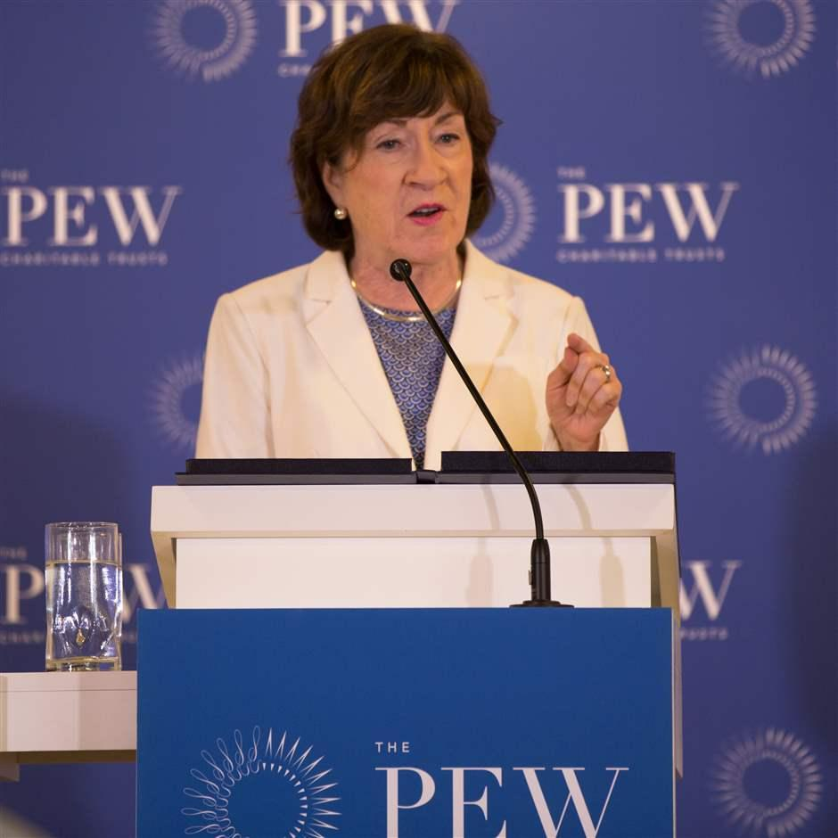 Susan Collins speaks at The Pew Charitable Trusts