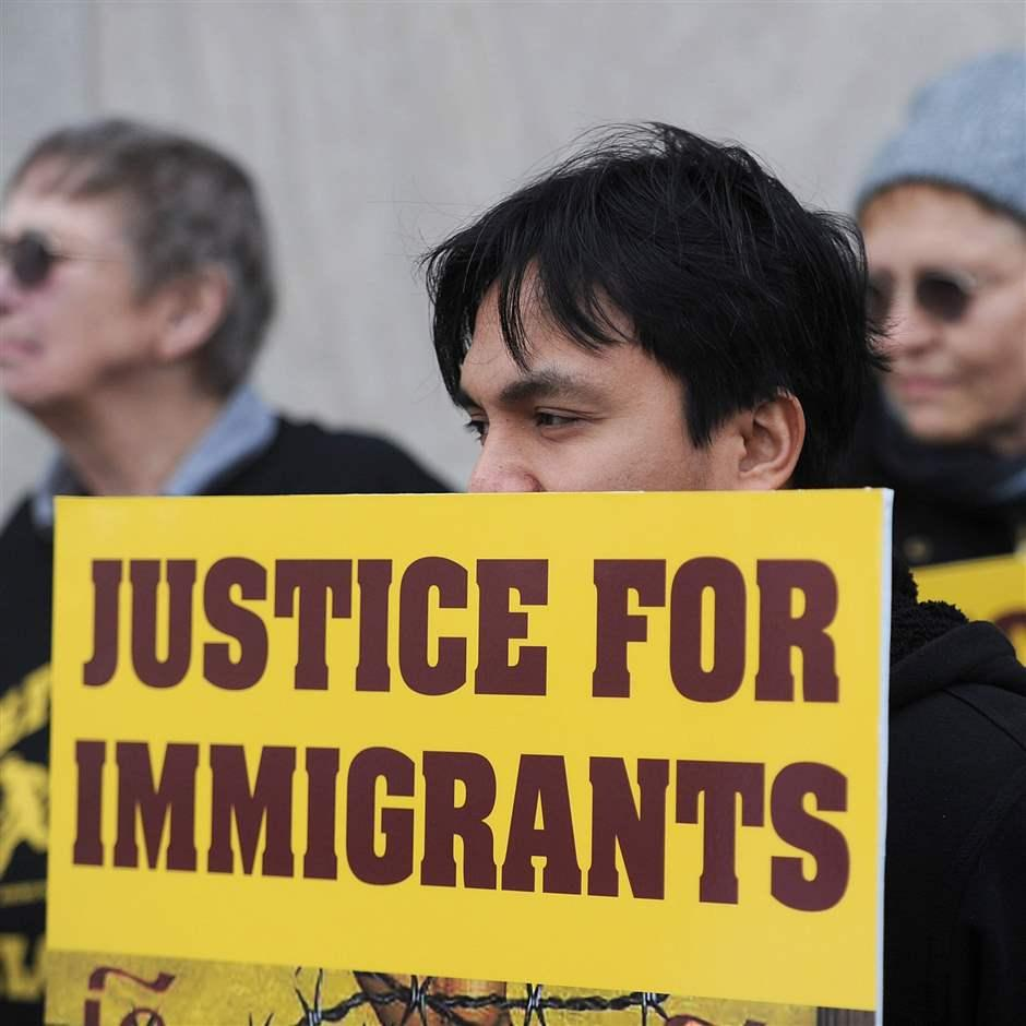Immigration policy protest