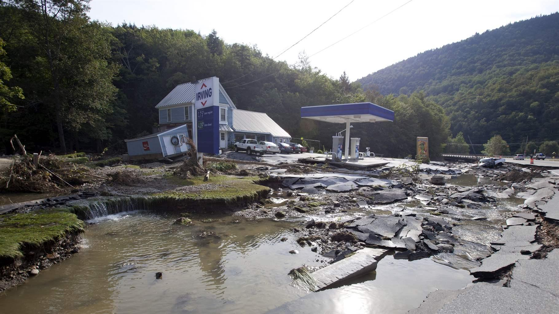 Vermont flood damage