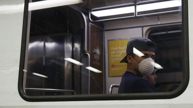 Facemask on public transit