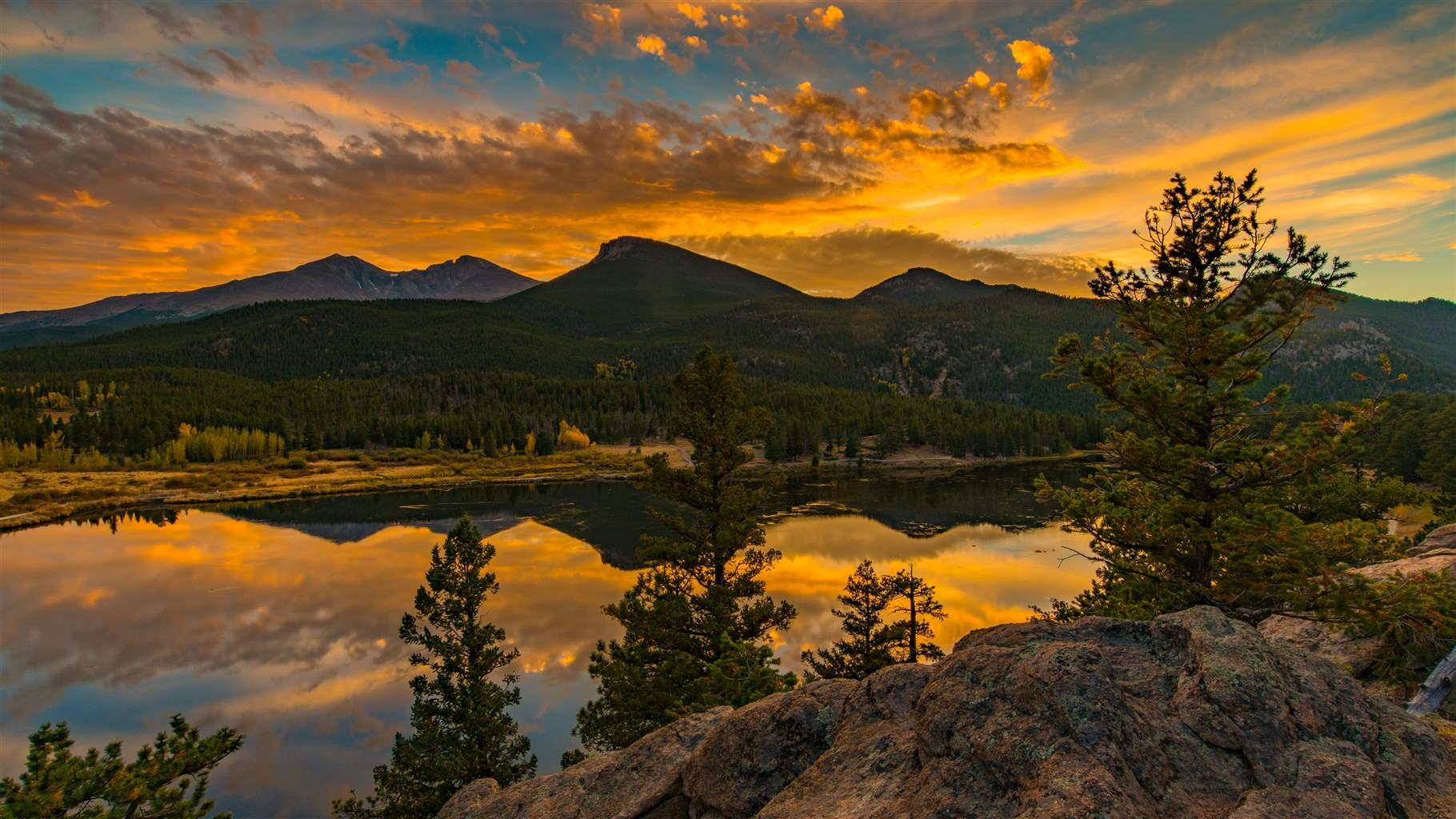 Lilly Lake at Sunset