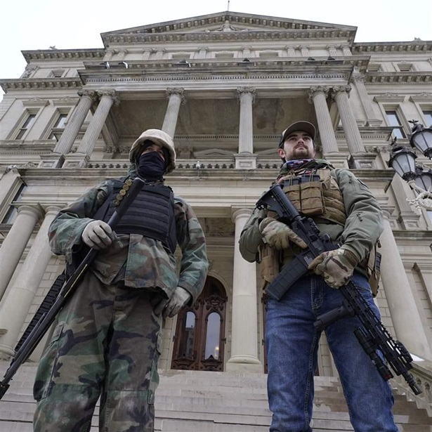 Armed men at Michigan Capitol