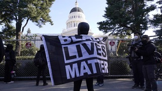 Black Lives Matter demonstrator