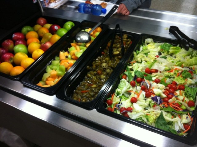 Cafeteria Salad Bar