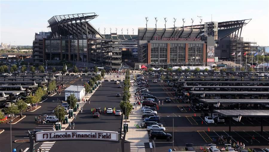 The solar array at Lincoln Financial Field, the largest at any National Football League stadium.