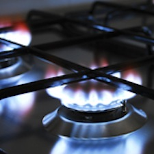 Photo of a gas stove burner