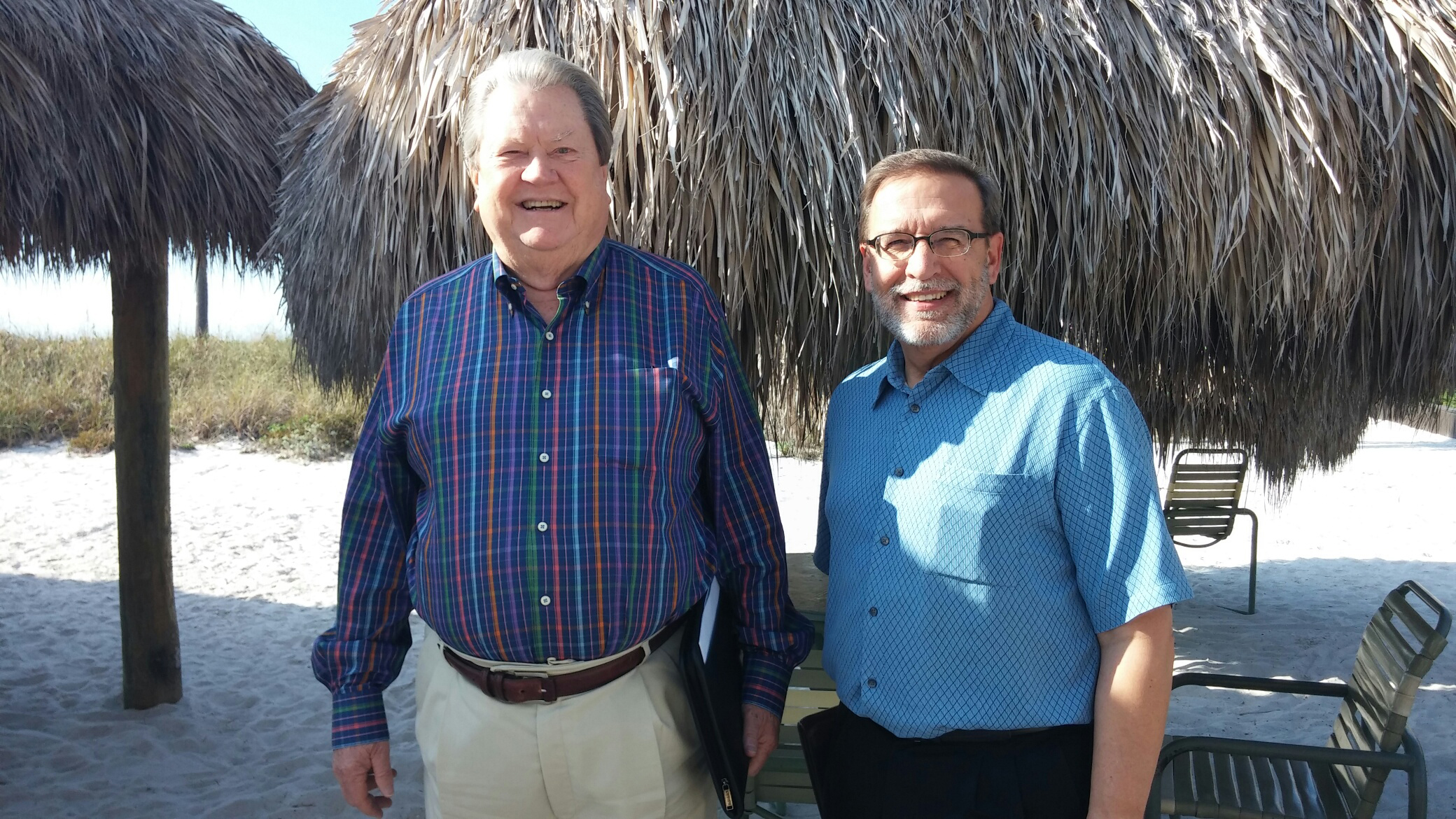 Hogarth meets with Lee Crockett, director of fish policy at The Pew Charitable Trusts, in St. Petersburg, Fla., in January 2015.