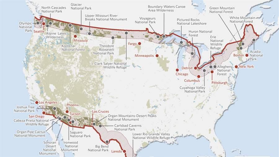 New Bills Threaten National Parks Wilderness Wildlife Refuges - Us border zone map