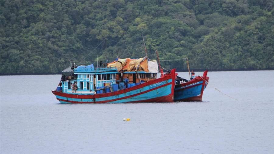Vietnamese illegal fishing boats in Palau