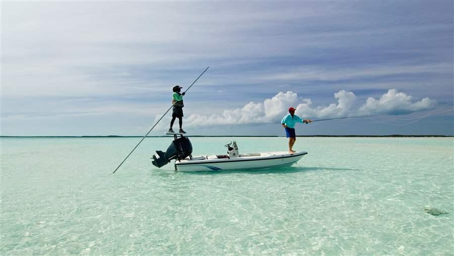 Recreational fishing accounts for half of all fish caught for Fishing in the bahamas