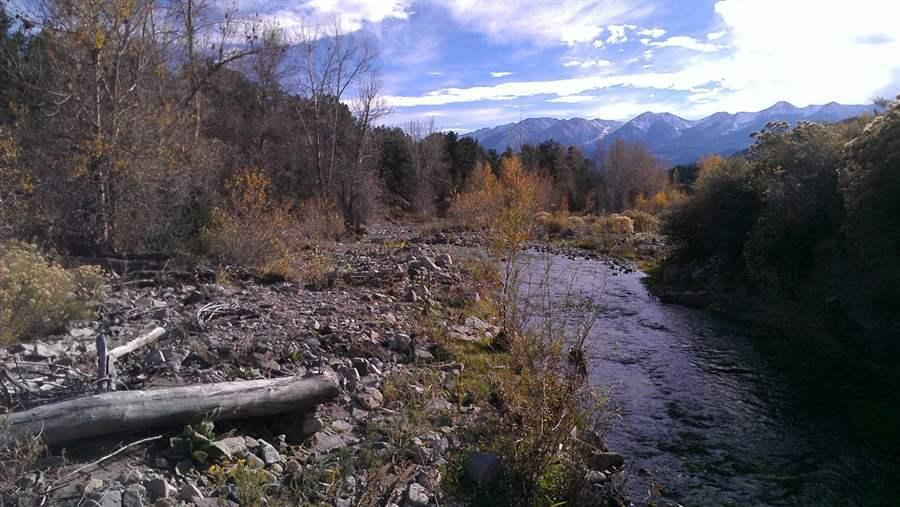 Badger Creek and Sangre de Cristo Mountains